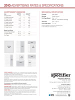 Download the full 2013 Mechanical Specifications